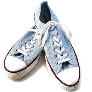 Converse All Stars Women's Size 9 Light Blue EUC